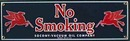 SOCONY VACUUM NO SMOKING PORCELAIN SIGN METAL SIGNS