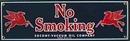 SOCONY VACUUM NO SMOKING PORCELAIN SIGN METAL SIGNS