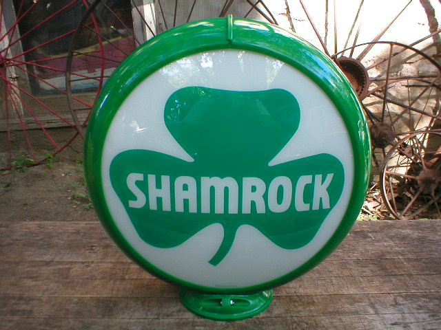 SHAMROCK GAS PUMP GLOBE