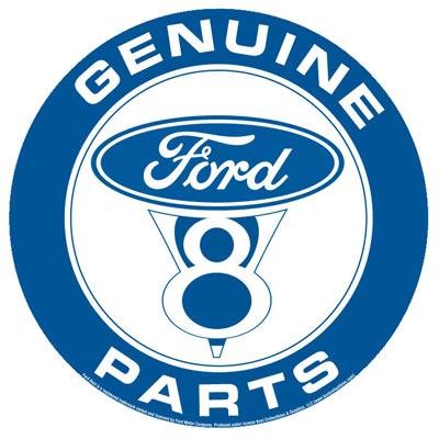 GENUINE FORD V8 ROUND SIGN
