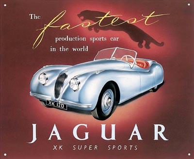 Jaguar XK Super Sports Metal Sign