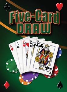 Five Card Draw  Metal Sign