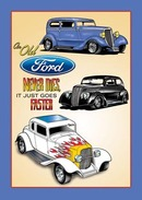OLD FORD NEVER DIES TIN SIGN METAL ADV SIGNS
