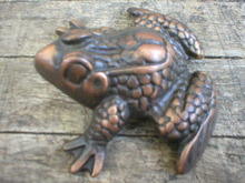 SOLID BRASS FROG MARKED TIFFANY
