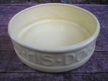 Yellow Porcelain McCoy Dog Dish