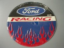 Round Ford Racing Sign