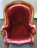 Victorian Burgandy Doll Chair