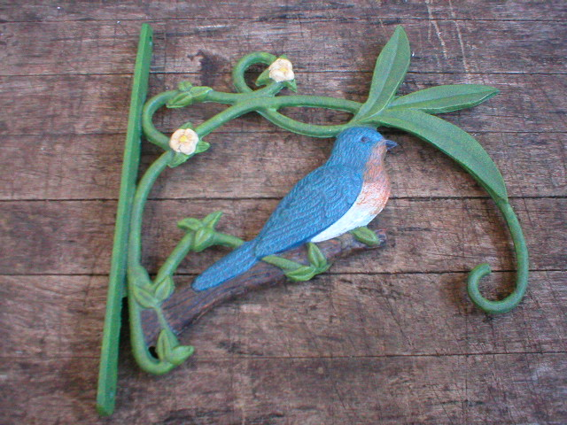 Cast Iron Bluebird Plant Holder