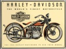 HARLEY DAVIDSON BIG TWIN MOTORCYCLE TWIN SIGN 1933