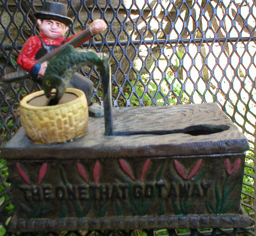Fisherman Mechanical Bank