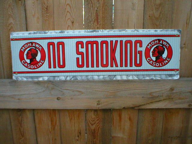 Mohawk No Smoking Sign