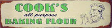 COOK'S BAKING FLOUR RETRO TIN SIGN