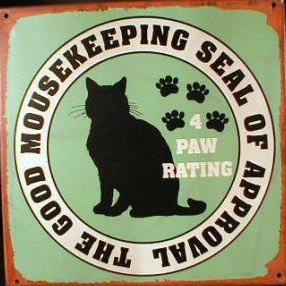 CATS SEAL OF APPROVAL TIN METAL SIGN