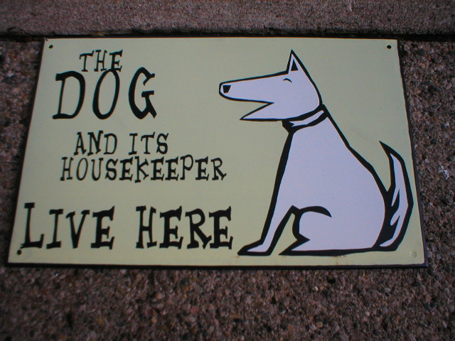 DOG & HOUSEKEEPER TIN SIGN METAL CAFE HOME BAR SIGNS D