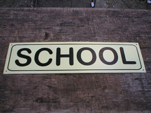 SCHOOL TIN SIGN METAL HOME CAFE BAR LOGO STREET SIGNS