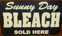 SUNNY DAY BLEACH TIN SIGN PIC METAL HOME CAFE SIGNS L