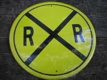 RAILROAD TIN METAL SIGN