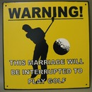 GOLF MARRIAGE TIN METAL SIGN