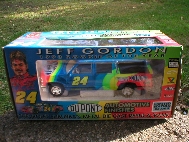 JEFF GORDON 1:25 SCALE #JEFF GORDON 1:25 SCALE #24 DUPONT DIECAST SUBURBAN BANK
