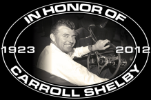 CARROLL SHELBY MEMORIAL HEAVY SIGN