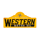 WESTERN MOTOR OIL LARGE METAL SIGN