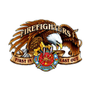 FIREFIGHTERS FIRST IN LAST OUT HEAVY METAL SIGN