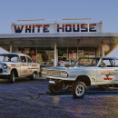 WHITE HOUSE BURGER DINER WIL E COYOTE DRAG CAR GASSER