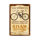 SHAW MOTORBIKE HEAVY METAL SIGN