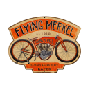 FLYING MERKEL CUSTOM METAL SHAPE SIGN