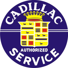 CADILLAC SERVICE SIGN HEAVY METAL SIGN 42 INCH