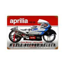 APRILIA METAL SIGN WORLD RECORD HOLDER HOME GARAGE DECOR