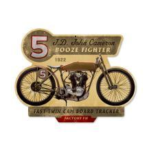 1922 BOOZE FIGHTER VINTAGE MOTORCYCLE METAL SIGN SHOP HOME DECOR