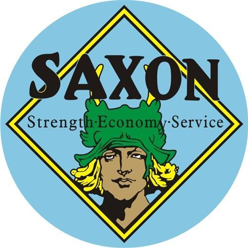 SAXON MOTORCARS HEAVY ROUND STEEL SIGN 25.5 INCH