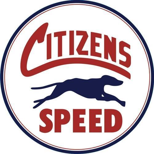 CITIZENS SPEED HEAVY ROUND STEEL SIGN 25.5 INCH