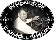 CARROLL SHELBY MEMORIAL OVAL STEEL SIGN MAN CAVE GARAGE SHOP DECOR