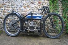 VINTAGE BLUE DOUGLAS MOTORCYCLE HEAVY METAL SIGN