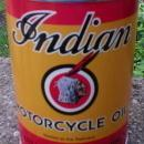 INDIAN MOTORCYCLE YELLOW RED OIL CAN NEW EMPTY