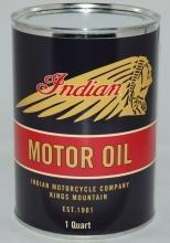 INDIAN MOTORCYCLE BLACK METAL OIL CAN 32 FL. OZ.