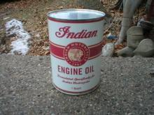 INDIAN MOTORCYCLE ENGINE OIL NEW CAN EMPTY