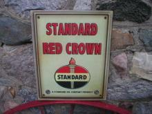 STANDARD RED CROWN RETRO METAL SIGN