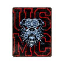 USMC BULL DOG HEAVY METAL SIGN