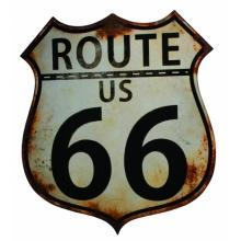 ROUTE US 66 LARGE HEAVY METAL SIGN