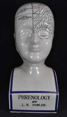 PHRENOLOGY HEAD LARGE PORCELAIN