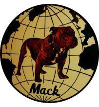 MACK TRUCK ROUND METAL 12 INCH DIAMETER SIGN NEW