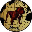 MACK TRUCK ROUND METAL 12 INCH DIAMETER SIGN NEW