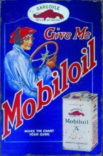 MOBILOIL A HEAVY METAL SIGN