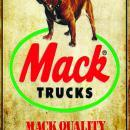 MACK TRUCK BULLDOG HEAVY METAL SIGN D