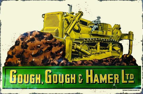 GOUGH HAMMER HEAVY METAL RECTANGLE SIGN