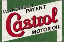 WAKEFIELD CASTROL HEAVY METAL RECTANGLE SIGN