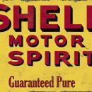 SHELL MOTOR SPIRIT HEAVY METAL SIGN